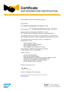 CT Software_SAP_eCertificate